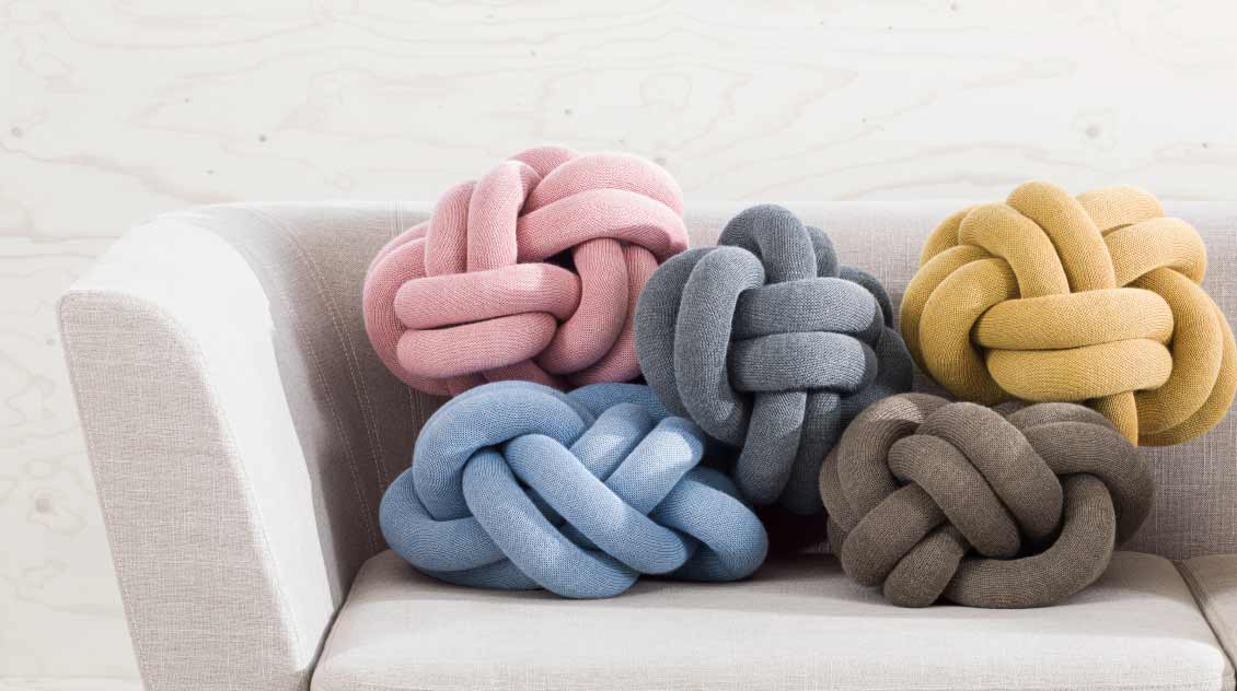 Design House Stockholm Knot cushion and nest sofa