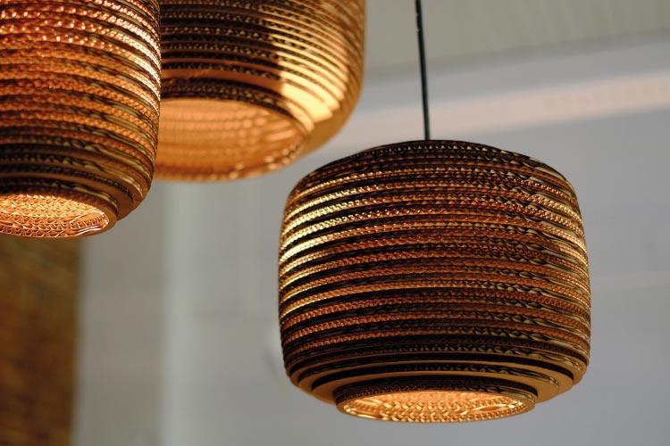 Graypants kerf pendant light