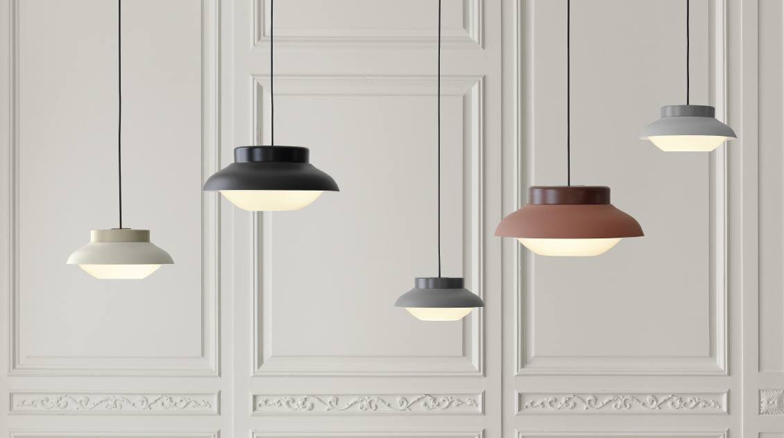 Gubi Collar lamps by Sebastian Herkner
