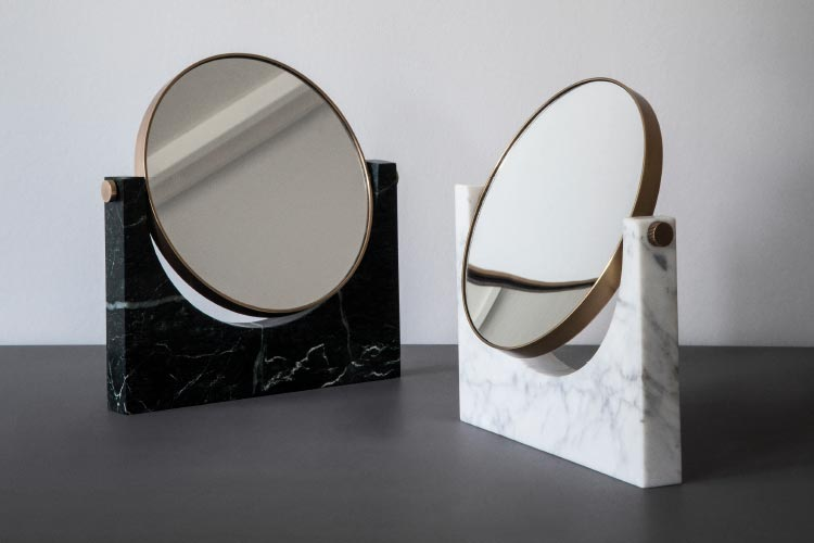 Menu Pepe marble mirror by Pepe Studio