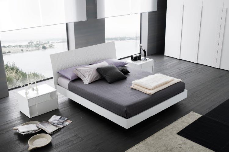 Rossetto Sapphire white bed