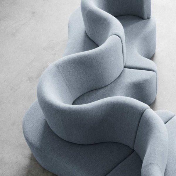 Cloverleaf Modular Three Seat Sofa