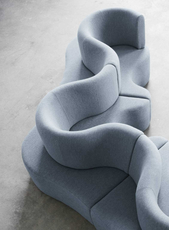 Verpan Cloverleaf modular sofa by Verner Panton