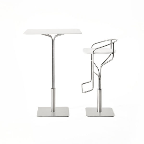 Ike Low Bar Stool with Swivel Base