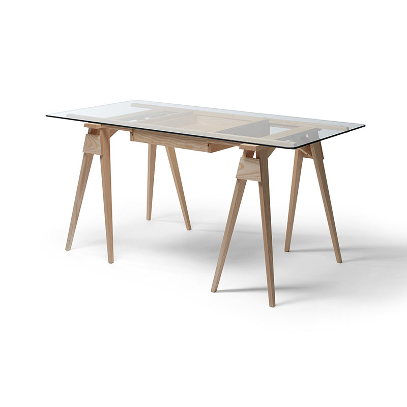 Design House Stockholm Arco Trestle Desk by Chuck Mack