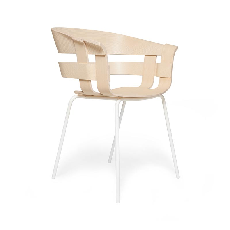 Design House Stockholm Wick Chair with Four Leg Metal Base by Karl Malmvall, Jesper Stahl