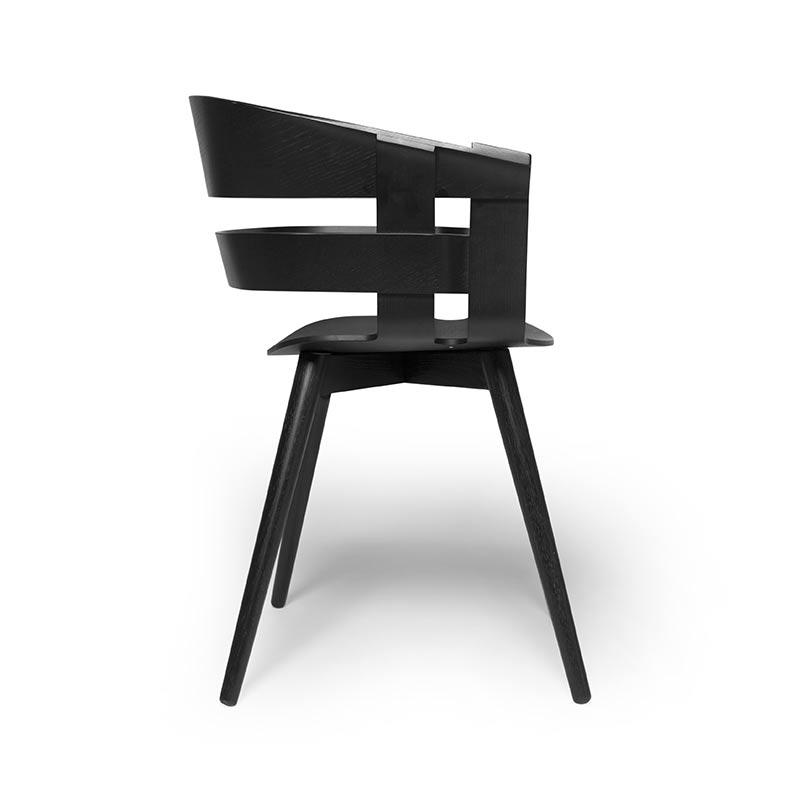 Design House Stockholm Wick Chair with Four Leg Wood Base by Karl Malmvall, Jesper Stahl