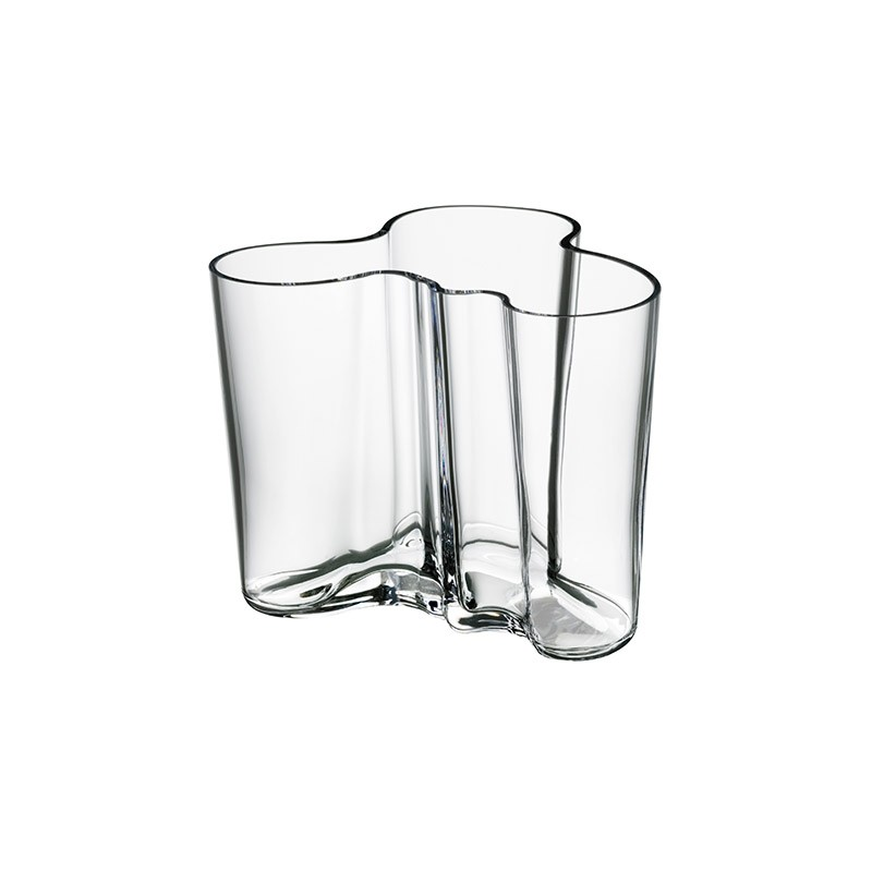 Buy Iittalas Clearance Aalto 120mm Glass Vase Clear By Alvar