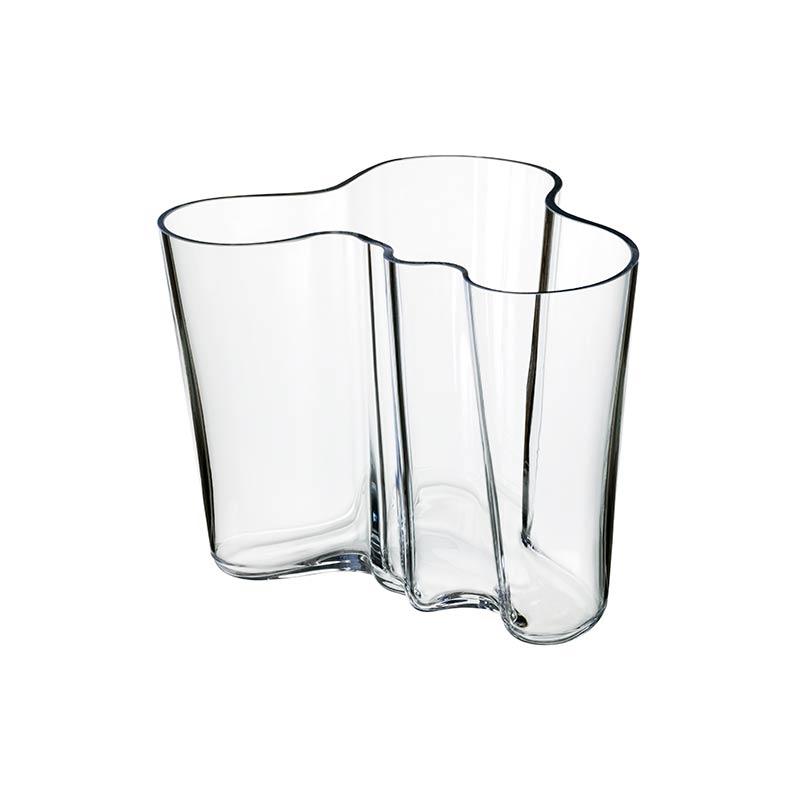 Iittala Aalto 160mm Glass Vase by Alvar Aalto