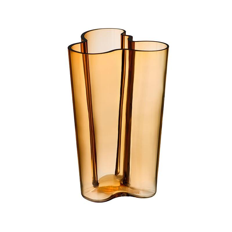 Iittala Aalto 201mm Glass Vase by Alvar Aalto