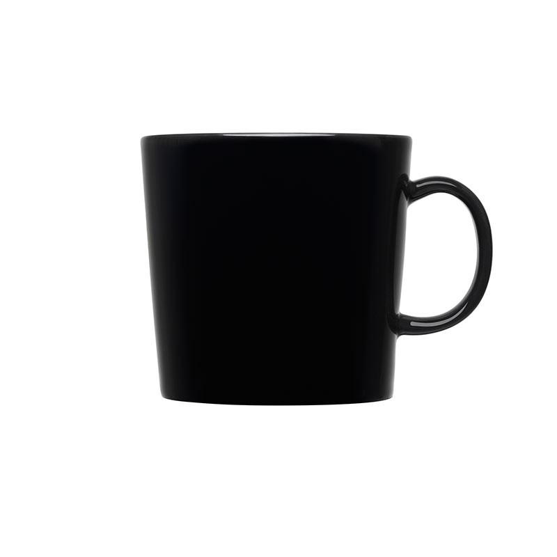 Iittala Teema Black 0.4L Mug –Set of Six by Kaj Franck Olson and Baker - Designer & Contemporary Sofas, Furniture - Olson and Baker showcases original designs from authentic, designer brands. Buy contemporary furniture, lighting, storage, sofas & chairs at Olson + Baker.