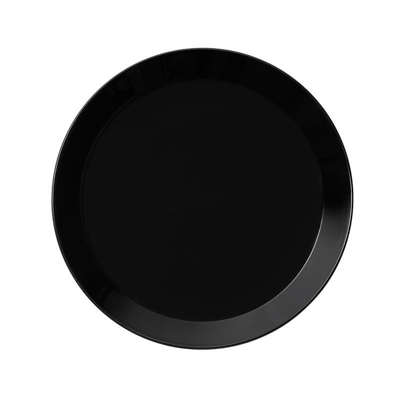 Iittala Teema Black 26cm Flat Plate – Set of Six by Kaj Franck Olson and Baker - Designer & Contemporary Sofas, Furniture - Olson and Baker showcases original designs from authentic, designer brands. Buy contemporary furniture, lighting, storage, sofas & chairs at Olson + Baker.
