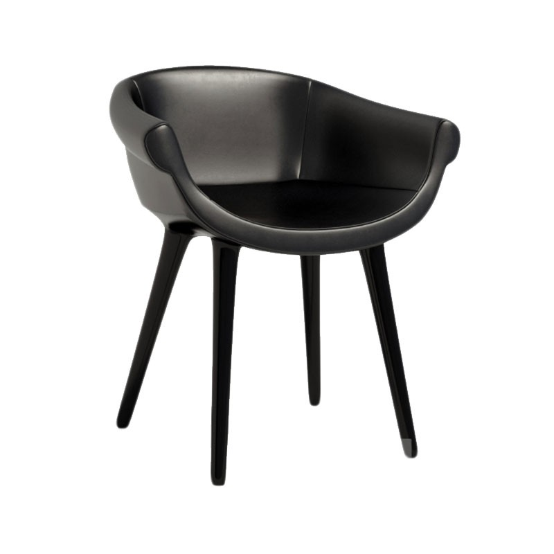 Magis Cyborg Lord Chair in Black Leather by Marcel Wanders