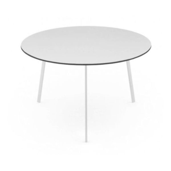 Striped Round Dining Table