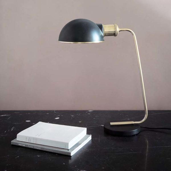 Collister Table Lamp in Polished Brass
