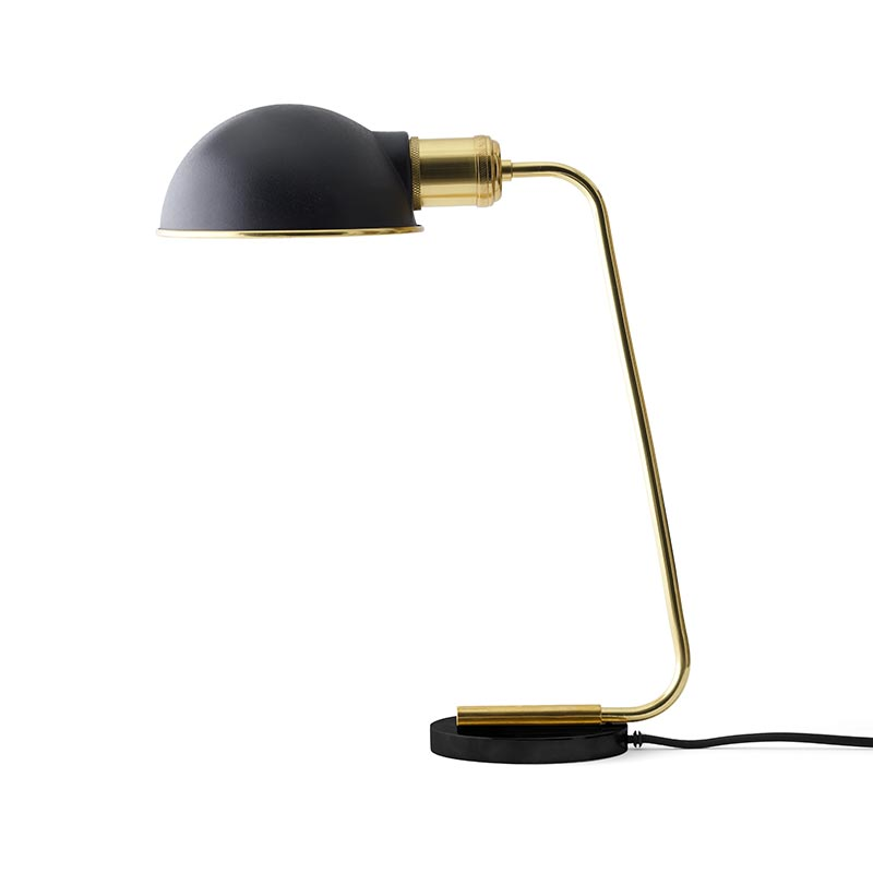 Menu Collister Table Lamp in Polished Brass by Søren Rose Studio