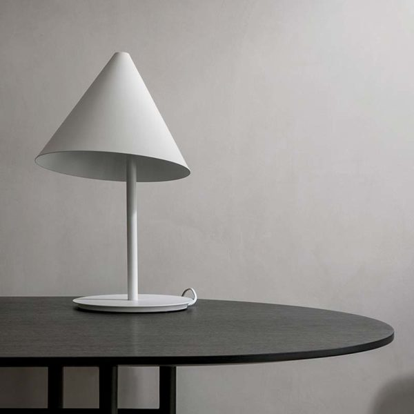 Conic Table Lamp in White