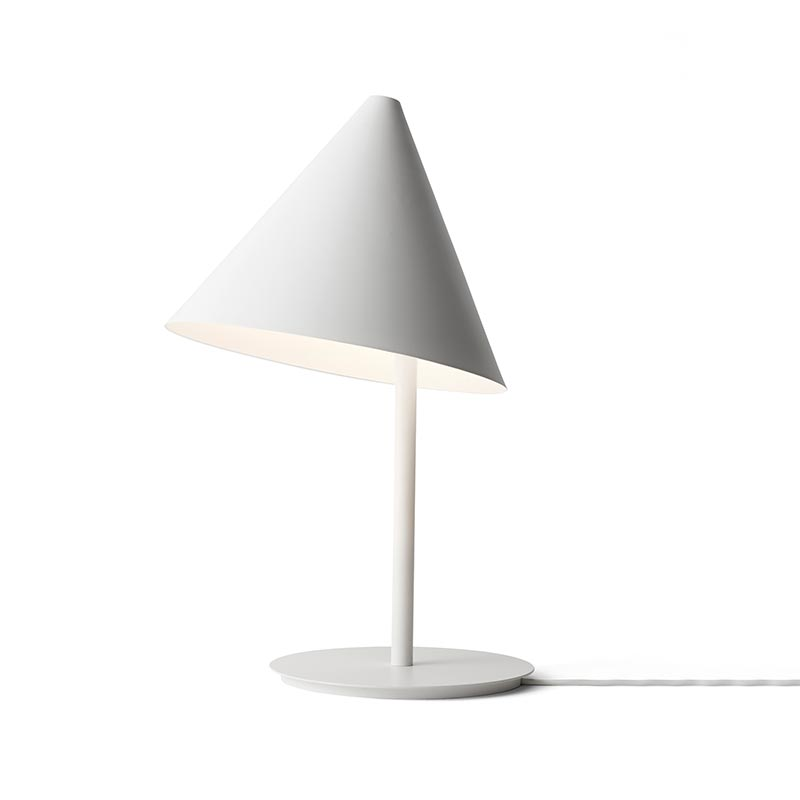 Menu Conic Table Lamp in White by Thomas Bentzen