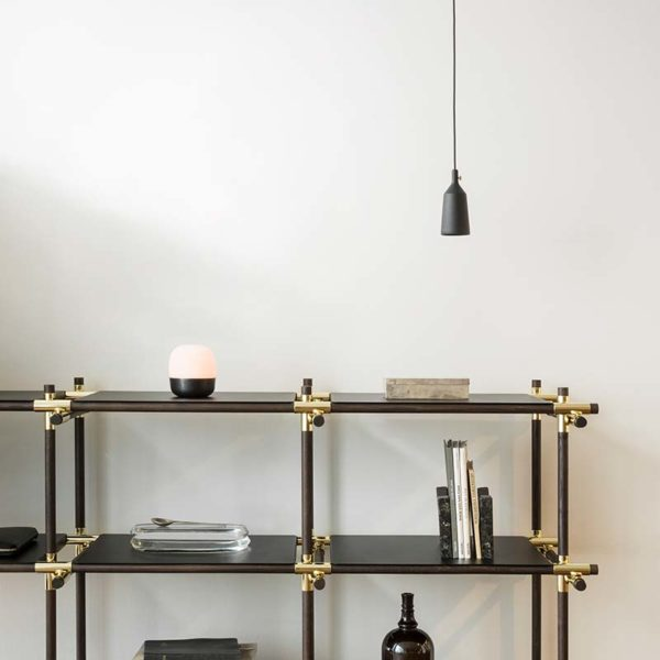 Glow Hurricane Candle Holder in Bronzed Brass
