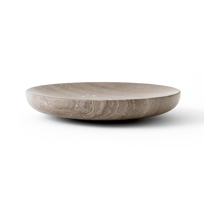 Menu Hover Bowl Honed Brown Marble by Norm Architects