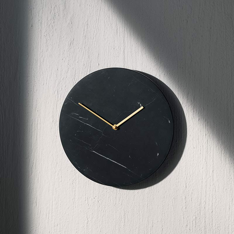 Menu Clearance - Marble Wall Clock - Black by Norm Architects