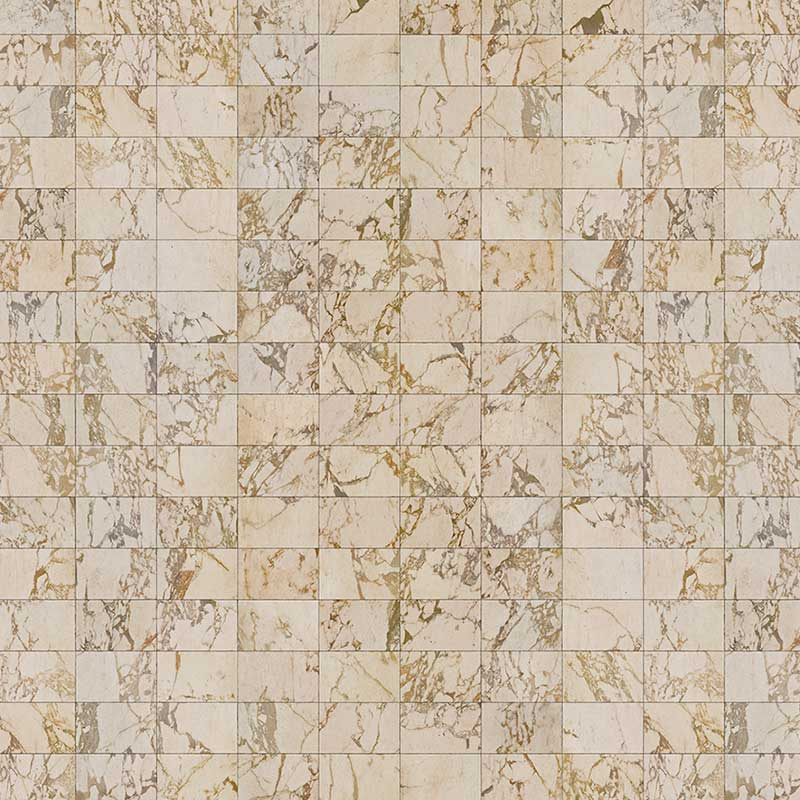 NLXL Beige Tiles 24.4x15.4cm Wallpaper by Piet Hein Eek
