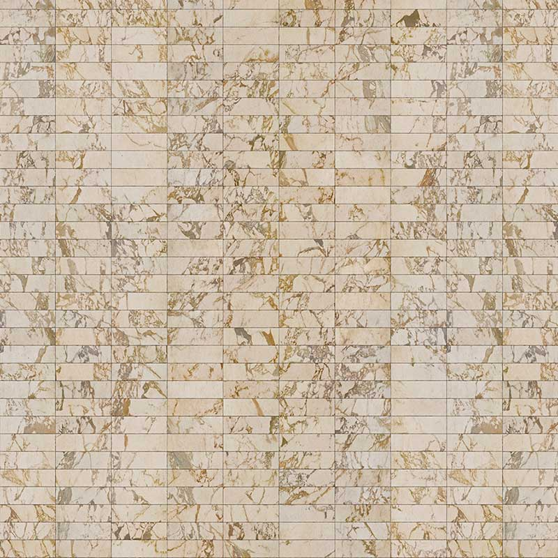 NLXL Beige Tiles 24.4x7.7cm Wallpaper by Piet Hein Eek