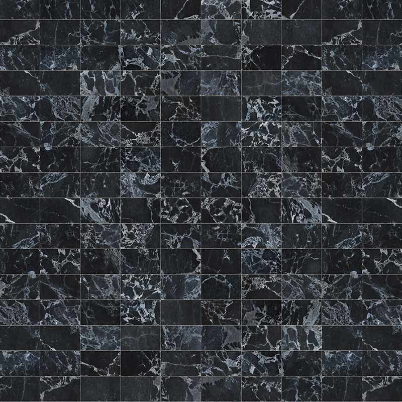 NLXL Black Marble Tiles 24.4x15.4cm Wallpaper by Piet Hein Eek