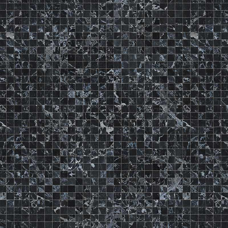 NLXL Black MarbleTiles 8.1x7.7cm Wallpaper by Piet Hein Eek