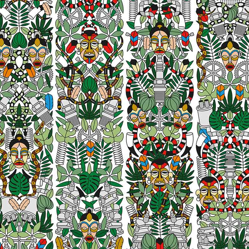 NLXL L'Afrique Wallpaper by Studio Job