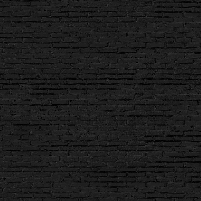 NLXL Materials Black Brick Wallpaper by Piet Hein Eek