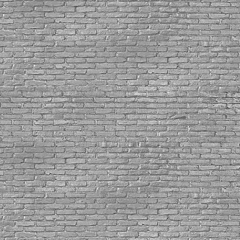 NLXL Materials Silver Grey Brick Wallpaper by Piet Hein Eek