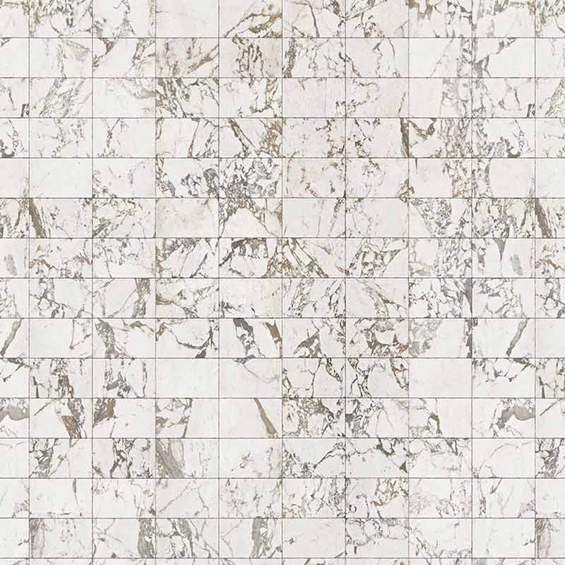 NLXL White Marble Tiles 24.4x15.4cm Wallpaper by Piet Hein Eek