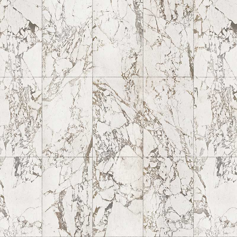NLXL White Marble Tiles 48.7x76.9cm Wallpaper by Piet Hein Eek