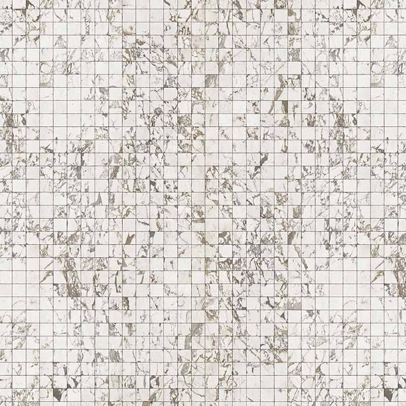 NLXL White Marble Tiles 8.1x7.7cm Wallpaper by Piet Hein Eek