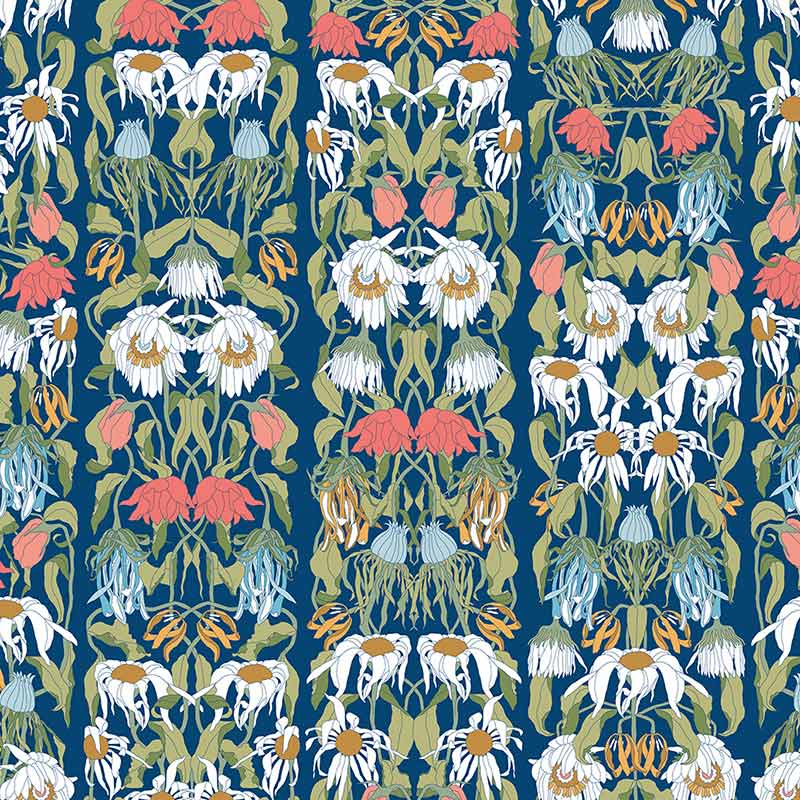 NLXL Withered Flowers Colour Wallpaper by Studio Job Olson and Baker - Designer & Contemporary Sofas, Furniture - Olson and Baker showcases original designs from authentic, designer brands. Buy contemporary furniture, lighting, storage, sofas & chairs at Olson + Baker.