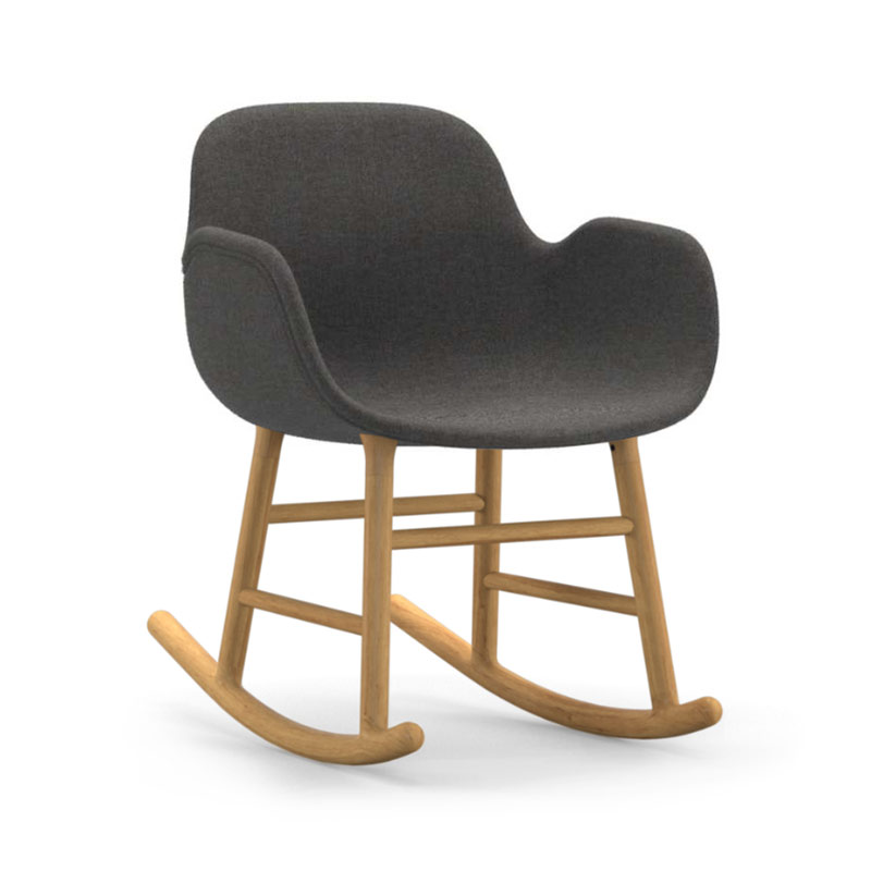 Normann Copenhagen Form Fully Upholstered Rocking Armchair by Simon Legald