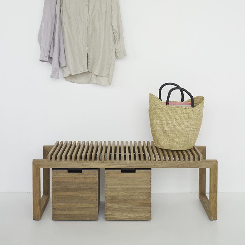Skagerak Cutter Two Seat Bench by Niels Hvass