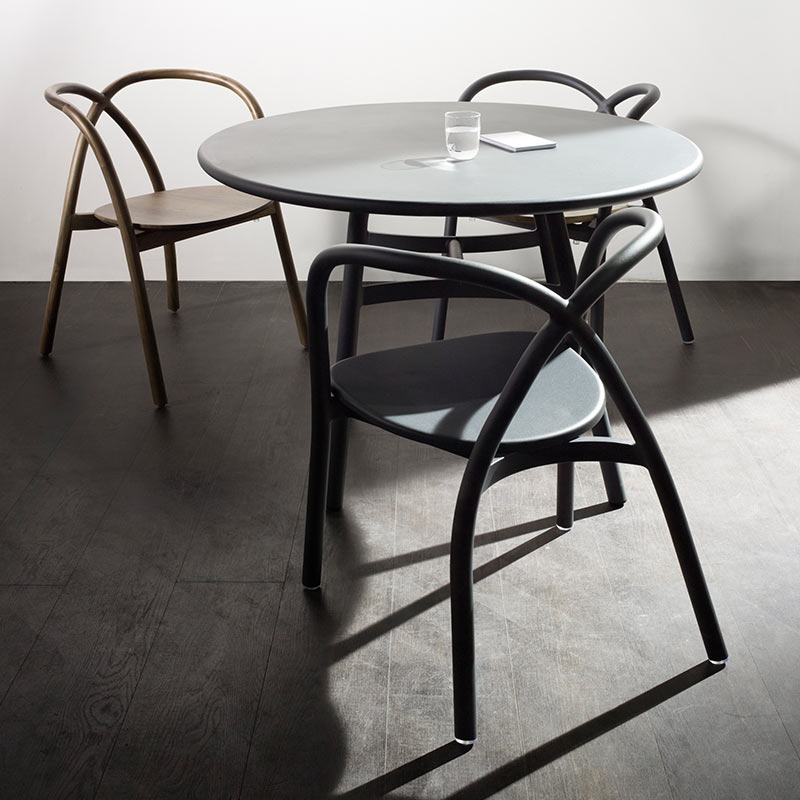 Stellar-Works-Ming-Outdoor-⌀70cm-Café-Table-in-Black-by-Neri-Hu-1 Olson and Baker - Designer & Contemporary Sofas, Furniture - Olson and Baker showcases original designs from authentic, designer brands. Buy contemporary furniture, lighting, storage, sofas & chairs at Olson + Baker.