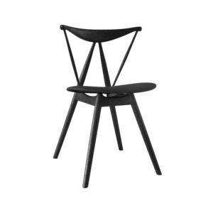 Stellar Works Piano Chair in Black Ash & Leather by Vilhelm Wohlert