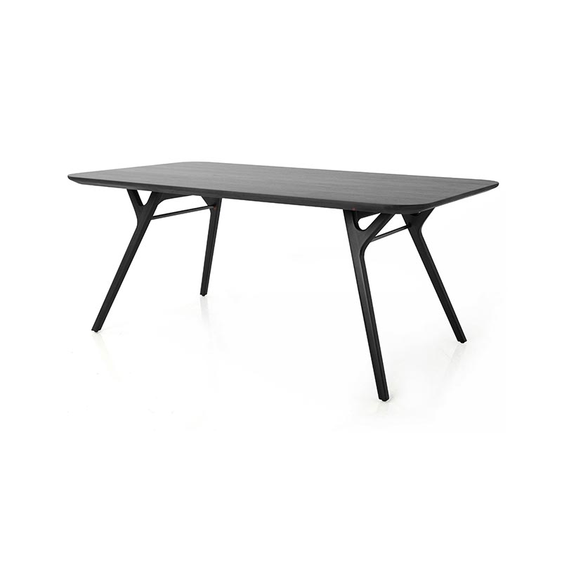 Stellar Works Rén 210x110cm Dining Table in Black Ash by Peter Bundgaard Rützou