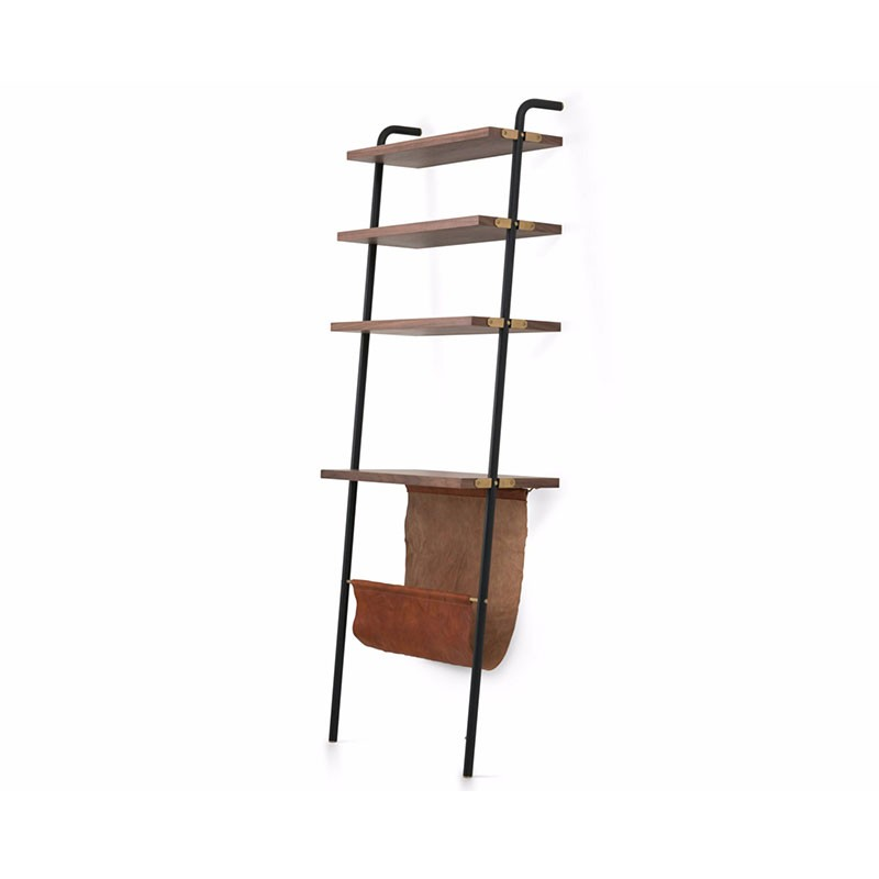Stellar Works Valet Magazine Rack with Display Shelving by David Rockwell