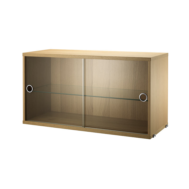 String Display Cabinet with Doors by Nils Strinning