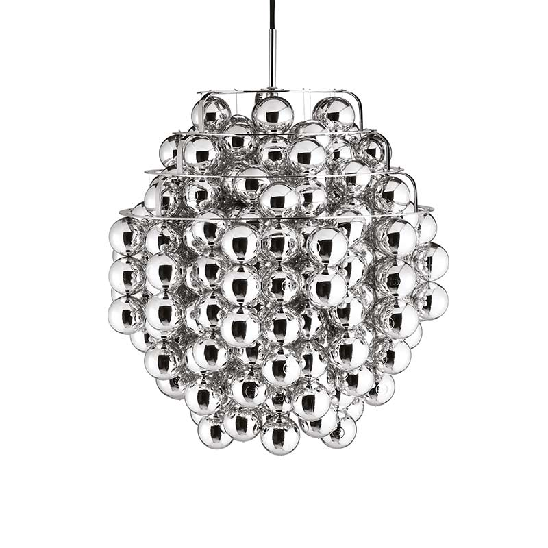 Verpan Ball Silver Pendant Light by Verner Panton