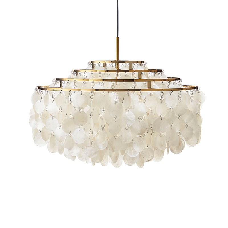 Verpan Fun 10DM Pendant Light in Brass by Verner Panton