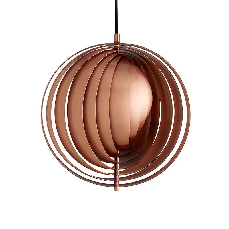 Verpan Moon Copper Pendant Light by Verner Panton
