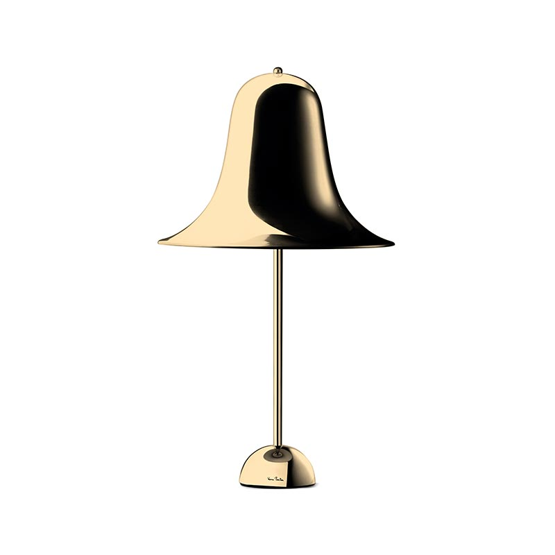 Verpan Pantop Table Lamp in Brass by Verner Panton
