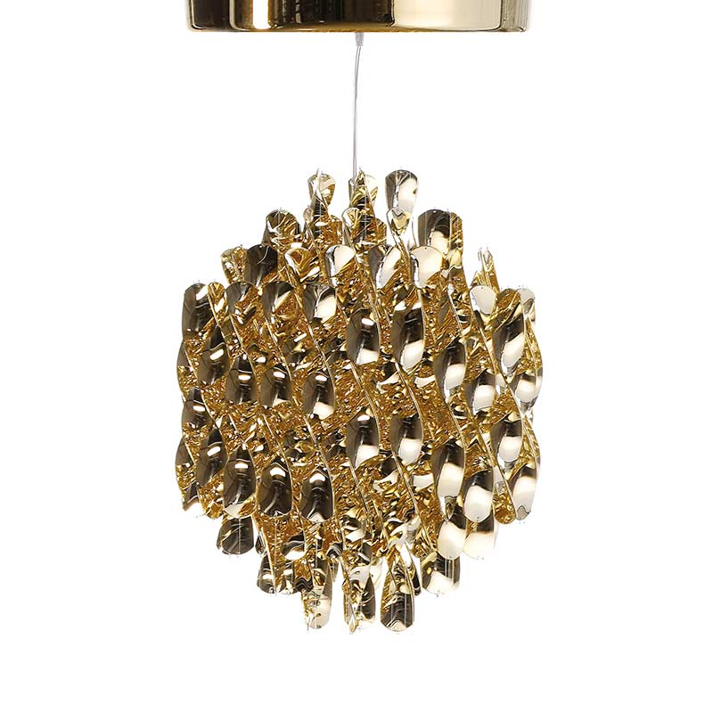 Verpan Spiral SP1 Chandelier in Brass by Verner Panton