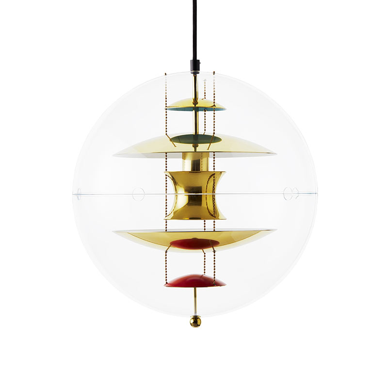 Verpan VP Globe Brass Pendant Light by Verner Panton
