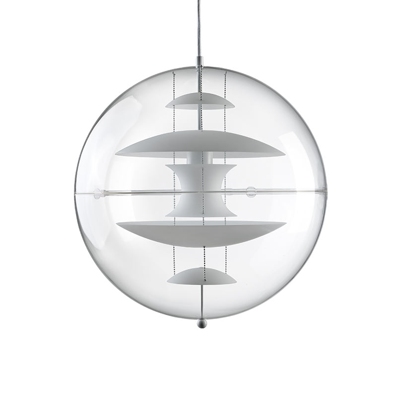 Verpan VP Globe Glass Pendant Light by Verner Panton